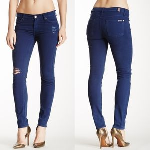 7 For All Mankind Distressed Slim Cigarette Jeans